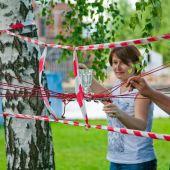 проведение тимбилдинга  Веревочный курс в Москве