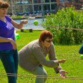 организация тимбилдинга  Веревочный курс на летнем корпоративе