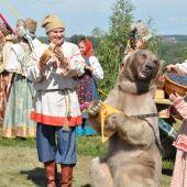 Дрессированный медведь № 1