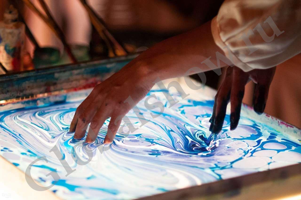 Рисовать по воде красками в домашних условиях 896